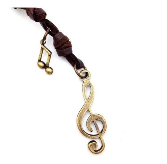 Colar Cordão Masculino Feminino Clave De Sol Música Músico