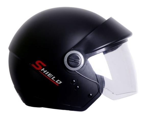 Capacete Moto Aberto Ebf Shiedl Com Viseira 56 58 60 Preto F