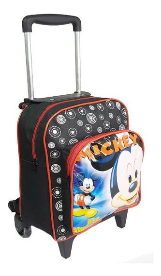 Mochilas Escolares Infantil Mickey Com Rodinha Meninos Kit P