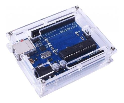 Imagen 1 de 7 de Case Gabinete Arduino Uno R3 Acrílico Transparente Calidad
