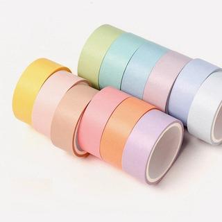 Washi Tape De Colores Pastel 12 Cintas