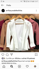Blazer Preto E Blusa Estampada