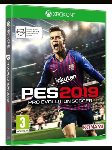Jogo Pes 2019 Xbox One Mídia Física Cd Original Semi Novo