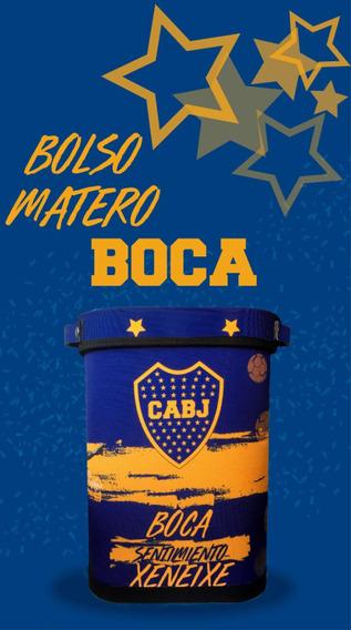 Bolso Matero Boca Júniors Para Llevar Mate Argentino.