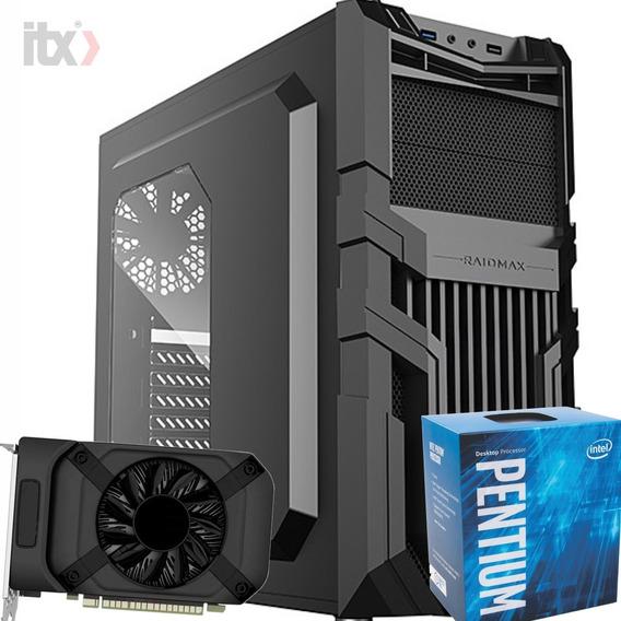 Pc Itx Gamer Pentium G4560 3.5ghz / Gtx 1050 2gb / 8gb / 1tb