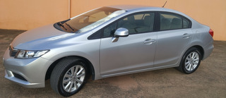 Honda Civic 1.8 Lxs Flex 2012 Unico Dono Ipva Total Pg Lindo