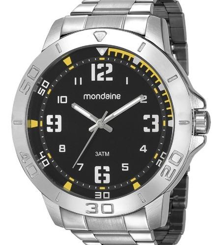 Relógio Mondaine Masculino Prata Grande