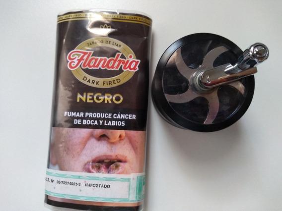 Molinillo Grinder 4 Pisos Manija + 1 Tabacos Flandria Negro