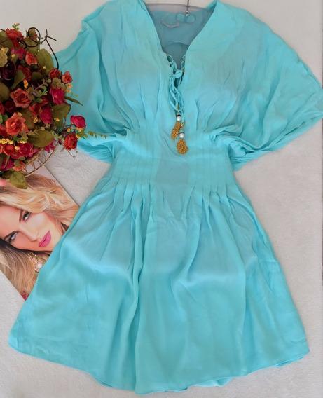 Vestido Azul Claro Eva Bella Tam P