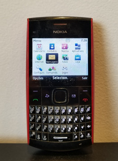 Celular Nokia Preto / Vermelho Antigo Retrô - Funcionando