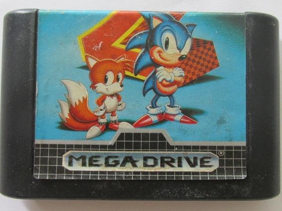 Sonic The Hedgehog 2 Mega Drive Cartucho Fita Original