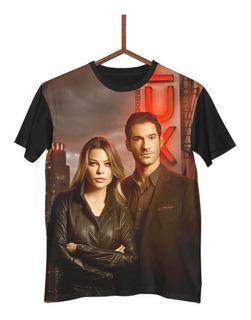 Camisa Camiseta Lucifer Chloe Netflix G0034