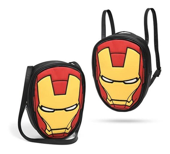 Cartera Convertible A Mochila Marvel Ironman Avengers