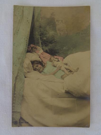 Cartão Postal Temático Brinquedo Antigo Boneca 1907