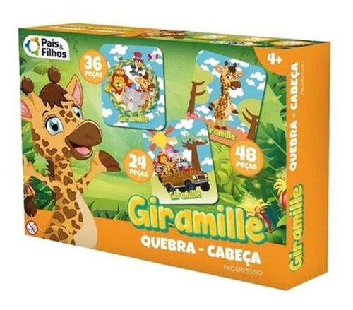 Imagem 1 de 2 de Brinquedo Quebra Cabeca Puzzle Progressivo Bilingue Giramile