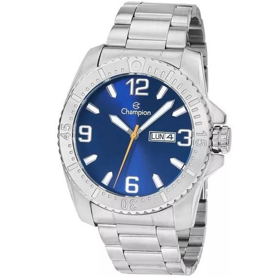 Relógio Masculino Champion Analógico Ca31588f - Prata/azul