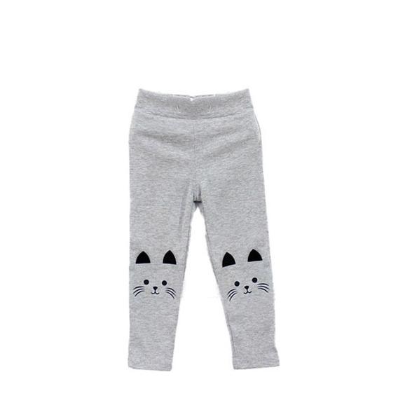 Leggins Mallón Pantalón Para Niñas Con Rodilla De Gato