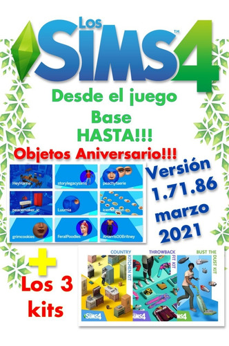 Imagen 1 de 5 de Los Sims 4 Juego Completo Hasta V.1.71 .86.20 Marzo 2021!!!