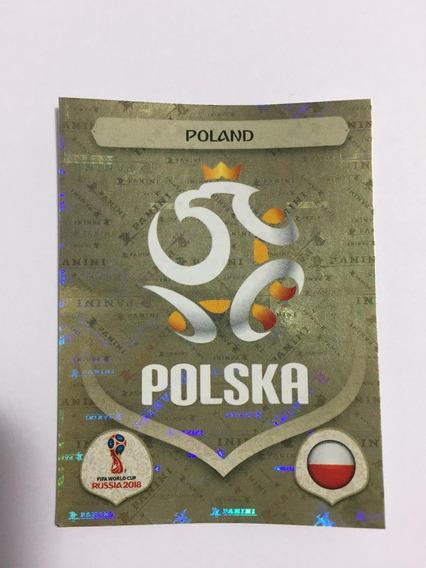 Figurinha 592 Poland Polonia Escudo Copa 2018 Cromada