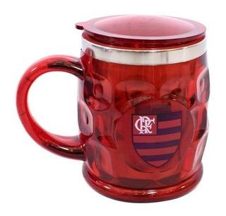 Caneca Térmica Com Tampa 500ml Flamengo Original