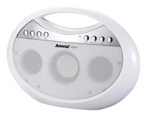 Rádio Portátil Boombox Amvox Amc 1400 Branco Bluetooth 10w