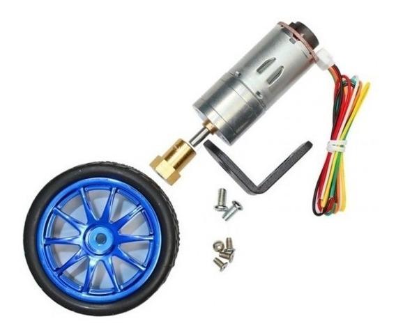 Motor Dc 6v 210rpm Com Encoder E Roda