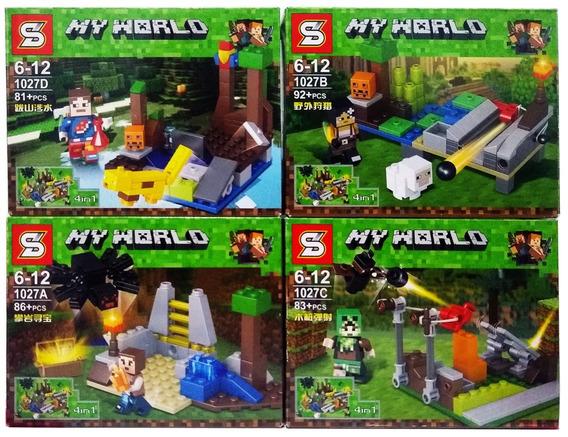 Lego Minecraft 342 Peças Kit Com 4 Modelos Sortidos 4 Em 1