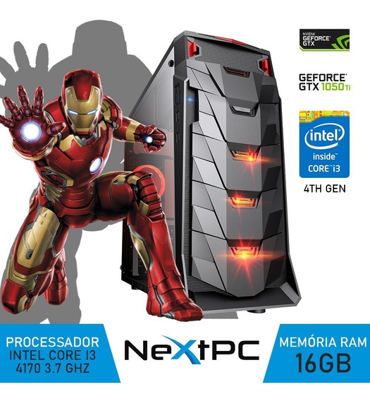 Pc Gamer Intel I3 4ºg 3.7 Ghz 16gb Gtx1050ti Gb Hd500 Gb
