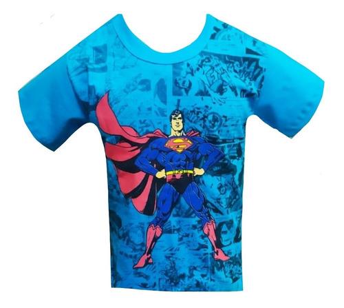 Imagem 1 de 9 de Kit 6 Camiseta Camisa Juvenil Masculino Personagens Herois