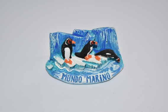 Imán Pinguinos De Cerámica Mundo Marino
