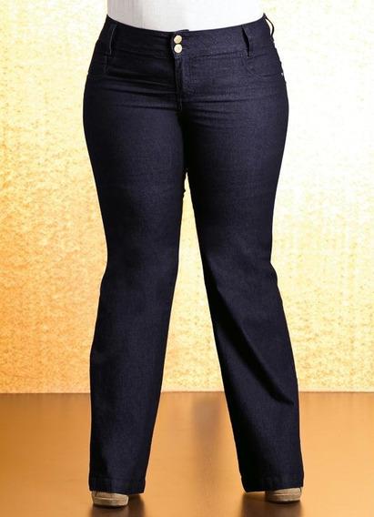Calça Jeans Flare Plus Size Com Elastano 125032