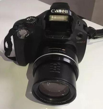 Câmera Fotográfica Cânon Sx30is Semi Profissional