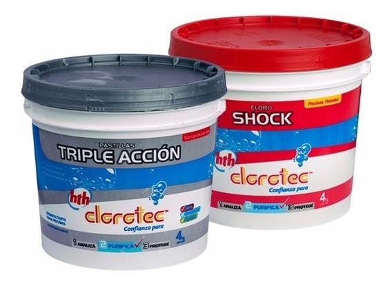 Pastillas De Cloro Triple Acción + Granulado Shock 4 Kg