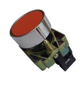 Botão Para Comando Cor Vermelho Nc 22mm Metal C/ 03 Unidades