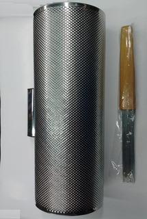 Guiro Metalico Artesanal Guira Grande Profesional C/ Peine