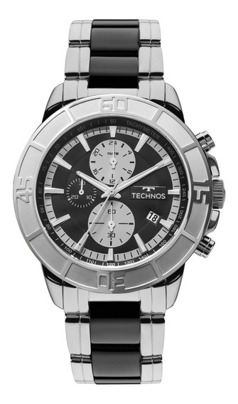Relógio Technos Masculino Prateado Classic Cerâmica Js15eu/1