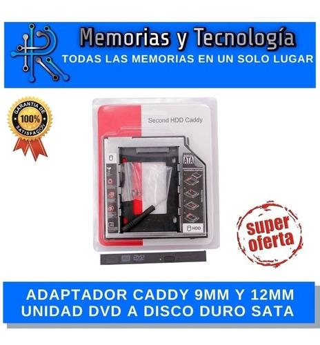 Imagen 1 de 1 de Lector Caddy Segundo Disco 9.5mm Y 12.5mm Hhd Ssd