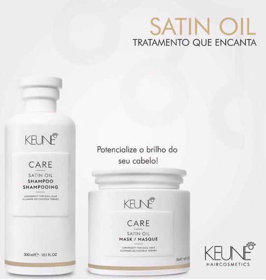 Keune Satin Oil Kit Sh 300ml + Masc 200ml Oferta Promoção