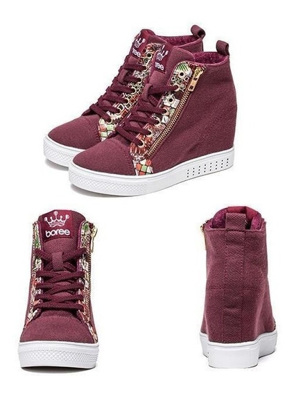 Sneaker Feminino Boree 58071 Importado Frete Grátis