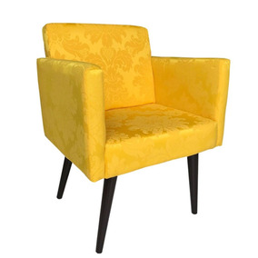 Poltrona Decorativa Nina Jacquard 13 Amarelo
