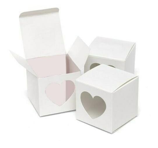 Souvenir Casamiento Caja Corazon Frontal 5x5 Cm 10 Unidades