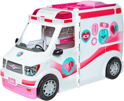 Barbie Clinica Vehiculo Ambulancia Sonidos Y Luces