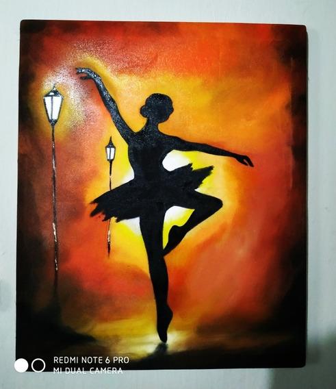 Pintura Óleo Sobre Tela Bailarina