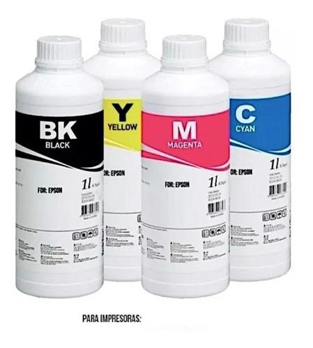 Tinta Para Impresoras Epson Hp Canon Kit 4 Litros