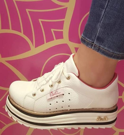 Zapatillas De Cuero Ecologico, Blancas Y Negras!