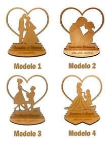 100x Lembrancinha Casamento Lbc-24 Modelos - Mdf Crú 10cm