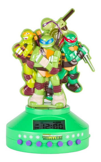 Reloj Despertador Y Radio Ninja Turtles Nickelodeon