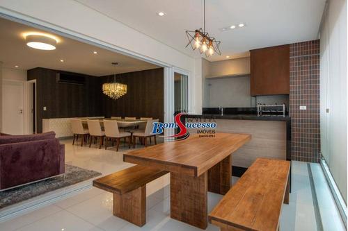 Imagem 1 de 19 de Apartamento Com 3 Dormitórios À Venda, 184 M² Por R$ 2.300.000,00 - Jardim Anália Franco - São Paulo/sp - Ap3027