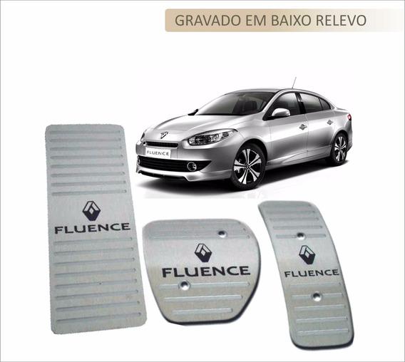 Pedaleira + Descanso Pé Renault Fluence Aço Inox Premium