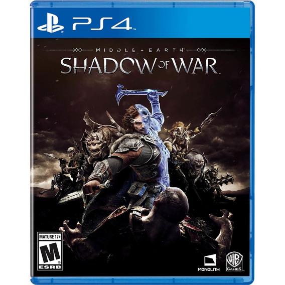 Sombras Da Guerra Ps4 Shadow Of War Disco Físico Dublado Br